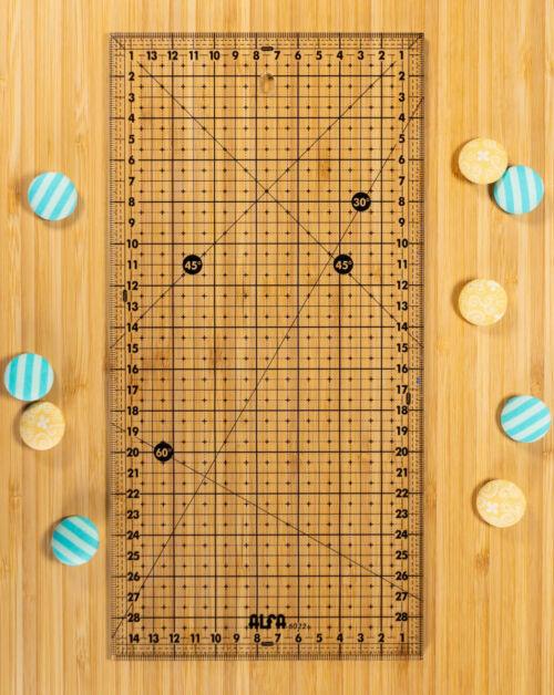 Mercería Online: Regla de patchwork y costura 15x30 cm